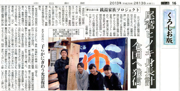 中日新聞 2013年2月13日号 くろしお版